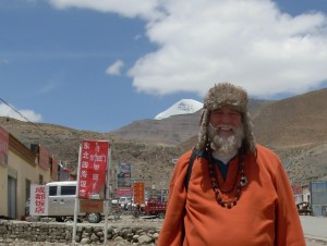 Swami Ayyappa in Tarchen village at the foot of Mt. Kailash.