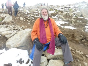 Exhausted but totally blissful descending from the highest pass on the second day of Treking. Jai Shiva !
